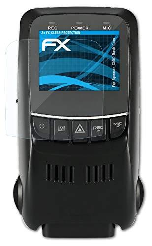 atFoliX Lámina Protectora de Pantalla Compatible con Apeman C550 Dash CAM Película Protectora, Ultra Transparente FX Lámina Protectora (3X)