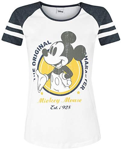 Micky Maus The Original T-Shirt weiß/dunkelgrau meliert S
