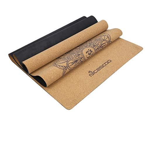 HoneyJuan Gymnastiek-yogamat yogamat kurk 5 mm milieuvriendelijk tasty turnmat yogamat voor fitness gezin. Fitness Pilates Workout mat
