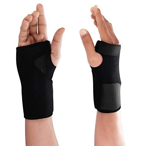Kurtzy Muñequera Tendinitis Férula Tunel Carpiano (1 Par) Soporte con Correa Ajustable para Mano Izquierda y Derecha sin Afectar la Flexibilidad - Férula Compresión Alivio Dolor, Artritis, Esguinces