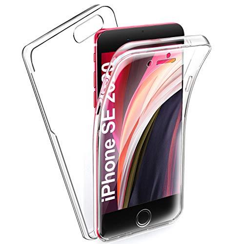 AROYI Coque Compatible avec iPhone 7 iPhone 8 iPhone Se 2020 Silicone Transparent,360 Degré Full Body Protection TPU Etui,TPU Avant PC Arrière...