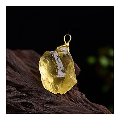 Raro 1 UNID Citrine CRIVO Piedra DE Piedra DE Piedra Pendiente Pendiente MIELÍCULA Cristal GRAVANDO Ore Ore Ore para LA CANACIÓN (Size : 1PC)