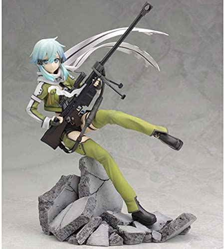 STKCST Anime Doll Sword Art Online Asada Shino Figura Fantasma Versión Escultura Decoración Estatua Muñeca Modelo Juguete Figura Altura 23cm