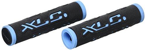 XLC Unisex– Erwachsene Griffe Dual Colour GR-G07, schwarz/blau, 125 mm