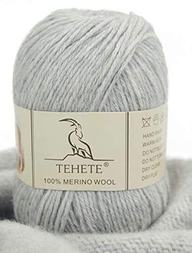 TEHETE 100% Hilo de lana merino superfino, hilo de lana para tejer...
