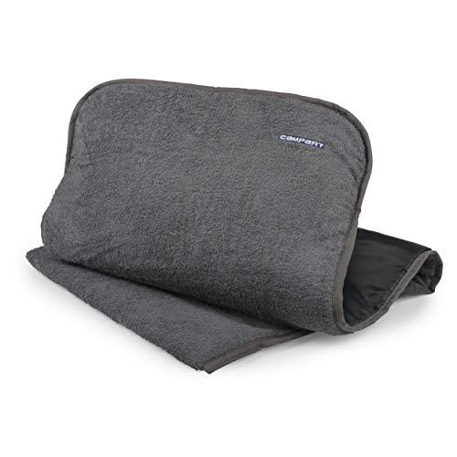 Cubierta de asiento Campart Travel CH-0614 – Acolchado – Tejido de rizo – Antracita