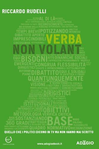 Verba non volant Adagio Italian Edition