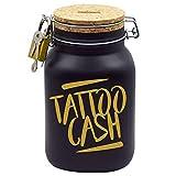 Tattoo Spardose Gold mit Aufschrift Tattoo-Cash Gutschein Geld-Geschenk XL