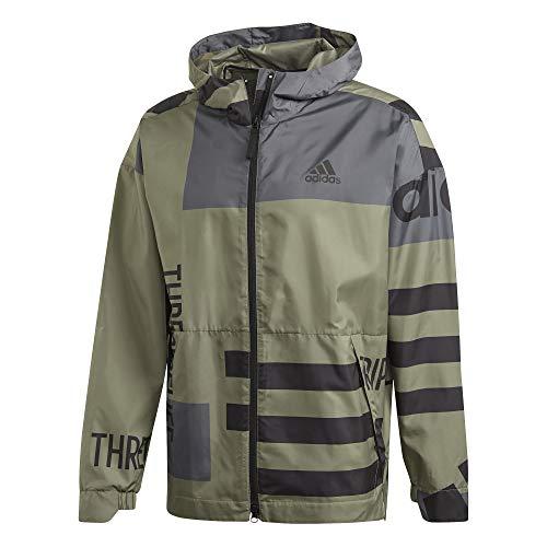 adidas Herren URBAN AOP W.RDY Sport Jacket, Legacy Green, XL
