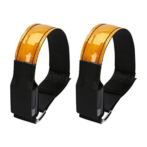 ABOOFAN 2 piezas de seguridad cinturón de luz reflectante LED brazalete luz luz de noche