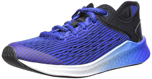 New Balance Kids' Fast V1 Fresh Foam Running Shoe, Black/uv Blue, 12 W US Little Kid