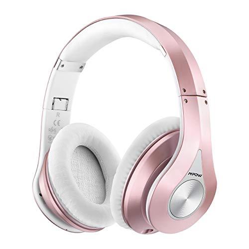 Mpow 059 Bluetooth Kopfhörer Over Ear, Kabellose Kopfhörer mit Hi-Fi Stereo, Dual 40mm Treiber, Over Ear Kopfhörer mit CVC 6.0 Noise Canceling für Integriertem Mikrofon Freisprechen für Online-Kurse
