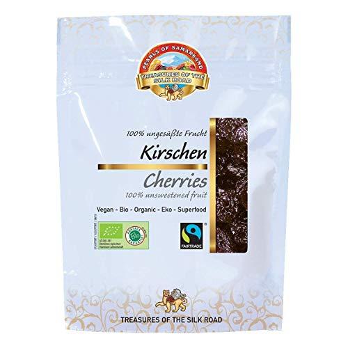 Bio Kirschen getrocknet 700g Fairtrade Süßkirschen, ungesüsst ungeölt Rohkost 7x100gr 7er SPARPACK!