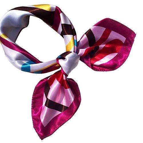 Bontand Damen Small Square Schal-Silk Gefühls-Klein Schal Stewardess Satin Halstuch Satin Hair Wrapping für Frauen