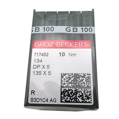 GROZ-BECKERT Aguja - 100 agujas de coser GROZ-BECKERT 135X5 DPX5 muchos tamaños (DPX5 14/90)