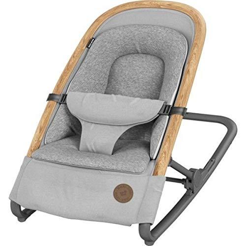 Bébé Confort Kori Transat 2 en1, Transat Léger avec Réducteur Confortable pour Nouveau-Né, de La Naissance à 9 Mois (0- 9Kg), Essential Grey