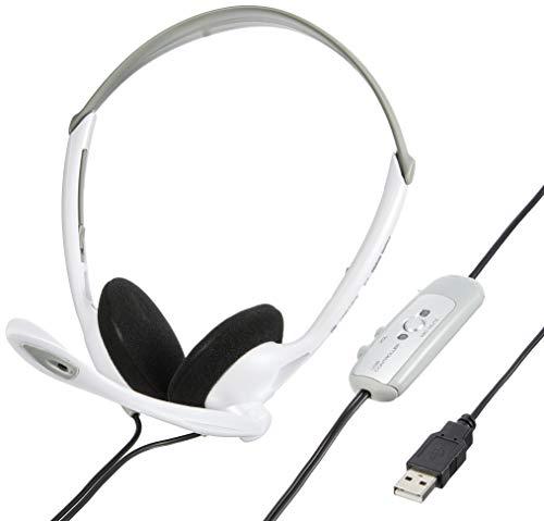 サンワサプライ USBヘッドセット/ヘッドホン シルバー MMZ-HSUSB10SV