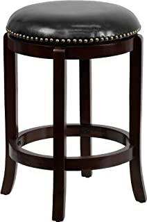 leather nailhead bar stools with back