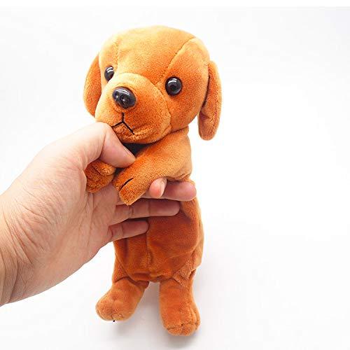 ARMAC Estuche para lápices de perro 3D de felpa suave creativo estuche de papelería bolsa (Golden Retriever)