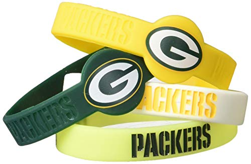 Aminco NFL Green Bay Packers Silicone Bracelets, 4-Pack