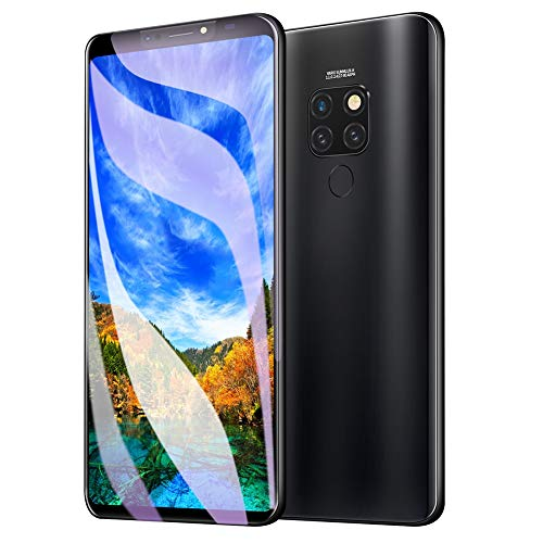 Unlocked Cell Phone,Unique 4-Camera Design 6.1 Inch 4G RAM + 64G ROM Screen Fingerprint Face Recognition Dual Card Dual Standby Smartphones,Multi-Language Support,Android 8.1 System(Black)