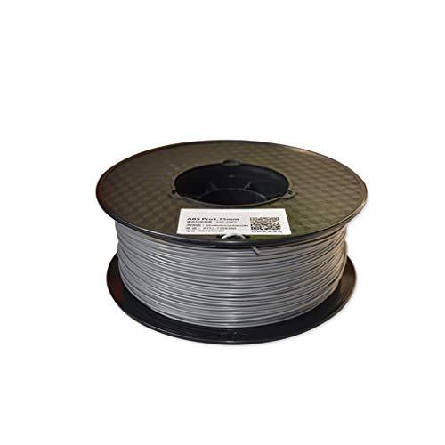3d imprimante filament ABS filament 1.75mm matériel d'impression 3D en plastique ABS for imprimante 3D et stylo d'impression multicolore en option 1kg (Color : Gray)