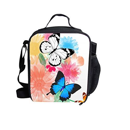HMMJ Niños aisló bolsas de almuerzo, caja de almuerzo para mujeres con soporte de botella lado, almuerzo grande para hombres adulto, bolsa de preparación de comida reutilizable para escolares de traba