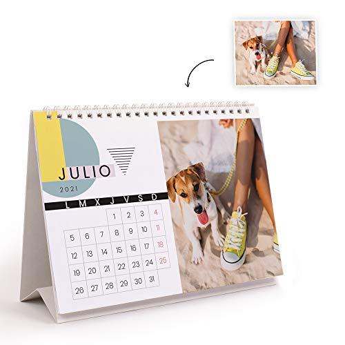 Fotoprix Calendario 2021 sobremesa personalizado con tus fotos | Varios Diseños y Tamaños...