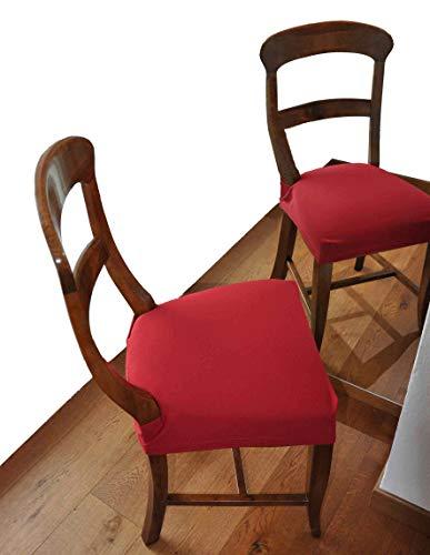 CASA TESSILE Antimacchia Coppia di Copri Seduta per Sedia - Verde