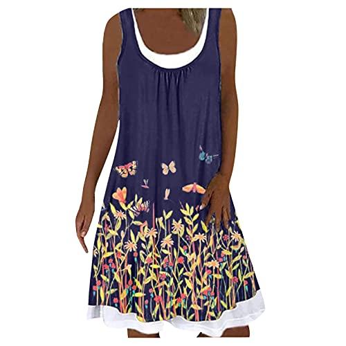 ZGNB Women's Dress Summer Dresses Strap Dress Light Flowers Chiffon, V-Neck, Bohemian Boho Elegant Partykleid Sommerkleid Damen Baumwolle Kleider Damen Festlich Elegant Hochzeit
