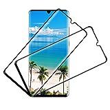 Schutzfolie für Huawei P30 Pro Panzerglas(2 Stück),9H Festigkeit Folie, Kratzfest, 3D-Vollbild Panzerglasfolie,Ultra-HD,Anti-Öl,Anti-Bläschen,Bildschirmschutzfolie für Huawei P30 Pro Panzerglas