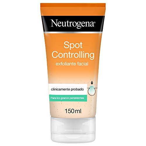 Neutrogena Spot Controlling Gel Exfoliante Facial, con Ácido Salicílico para Piel Propensa al Acné - 150Mililitros