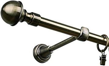 Gardinenstangen einlfg Metall  Messing antik 160 cm