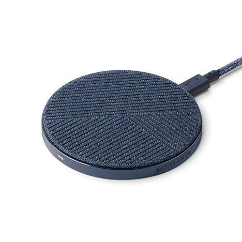 Native Union Drop Caricabatteria Wireless – [Certificato Qi] 10W Antiscivolo Ricarica Rapida per Dispositivi Compatibili Wireless Compatibile con iPhone 12/12 Pro/12 PRO Max/12 Mini(Azzurro/Blu)