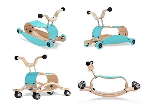 Unbekannt Wishbone Mini FLIP Deluxe Bundle Top Aqua + Base Aqua + Räder Aqua + Race Base (mit 360° drehbaren Räder)
