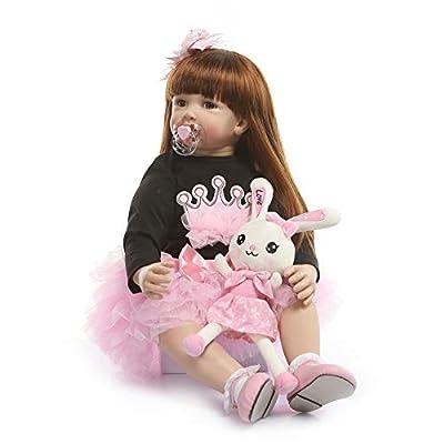 Zero Pam Reborn Toddler Doll Girl 24 inch 60 cm Toddler Size Soft Body Reborn Baby Dolls Lifelike Dollhouse Doll Set for Children Teenages (Pink) from NANJING KERUITA INTERNET TECHNOLOGY CO.,LTD