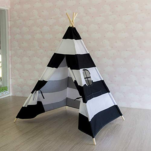 Barm Indian canvas children's play house,Foldable pop-up indoor and outdoor children's tent toy house princess's house boy prince's castle-E