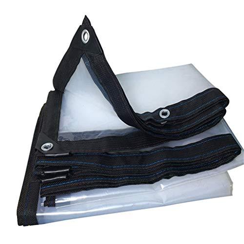 QDY-Tarps Lona de Lona Transparente, Impermeable, a Prueba de Polvo, para Invernadero, Aislante, para Camping, balcón, Planta, Impermeable, Lona