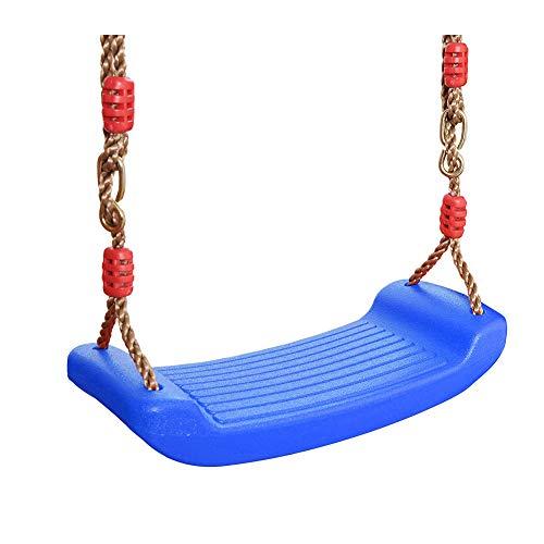 Siège De Balançoire en Plastique Enfants Courbé Plaque Siège De Balançoire Drôle Rocking Chair Siège De Balançoire Dur Siège De Balançoire pour Intérieur Et Extérieur Bleu