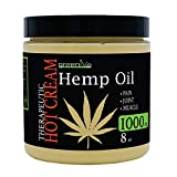 GreenIVe - Hemp Hot Cream 1,000mg - Soothing Moisturizing Hemp Hot Cream - Exclusively on Amazon (1,000mg 8 Ounce)