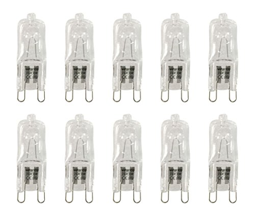 VSTAR 10er-Set G9 Halogenlampe, klar, 230V/33W, 460lm, 2800K, Warm-Weiß