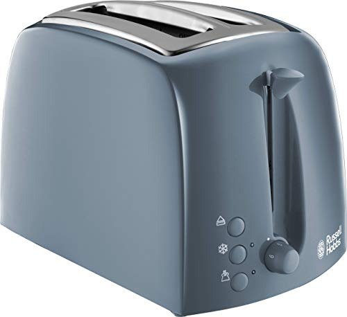 Russell Hobbs 21644 Textures 2 Slice Toaster with Frozen, Cancel and Reheat Settings, Grey