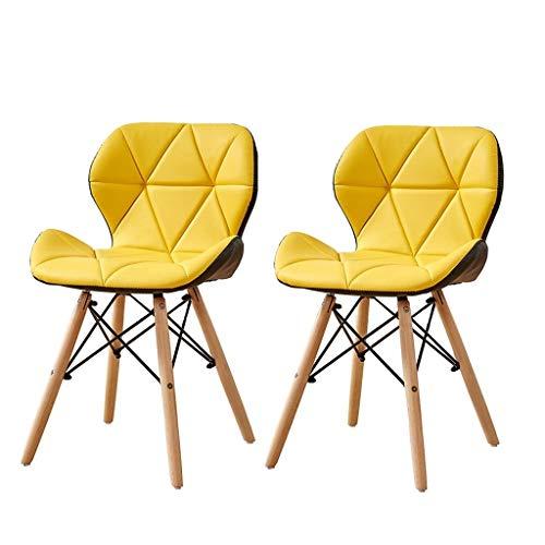 LHHL 2-delige set ultralichte campingstoel, tuinstoel, robuust 175 kg capaciteit, voor outdoor-activiteiten, camping, barbecue, strand, wandelen en meer geel + zwart