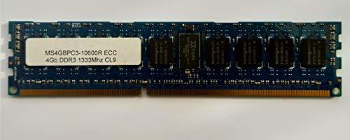 Nanya PC3-10600R DDR3-1333 - Memoria para servidor CL9 (4 GB, ECC, registrada)
