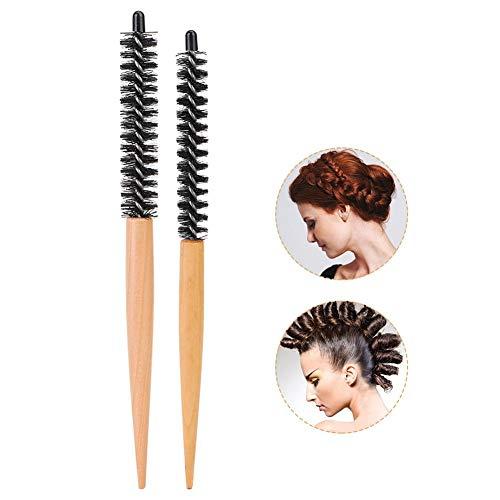 Petite brosse à cheveux ronde anti-dérapante dispersant rapidement la chaleur Peigne de coiffure pour brosse à bigoudi Peigne de maquillage Brosse de taquinerie(# 20)