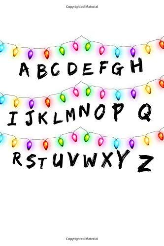 ABC: Alphabet Stranger Things Inspired Christmas Lights Mess