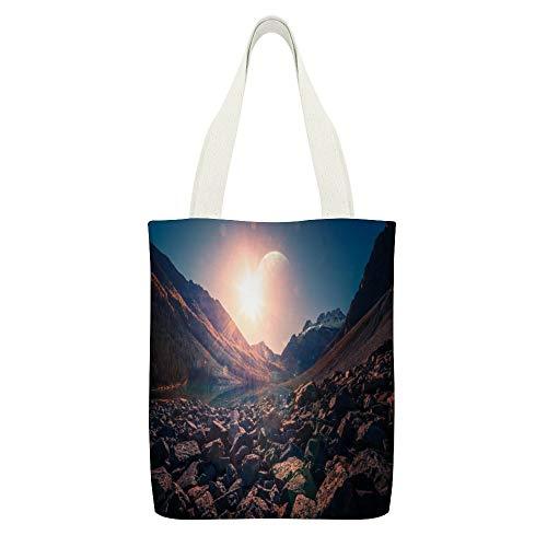 Bolsa de lona para consolación de lagos, montañas, sol brillante, Parque Nacional...