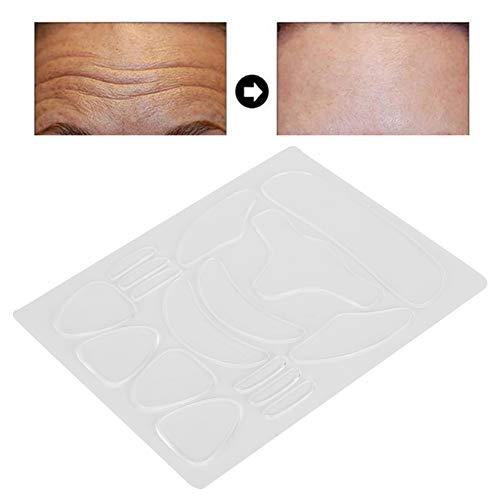 Parche De Alisado Facial, 16 Piezas De Parches Faciales Reutilizables Tiras De Eliminación De Arrugas, Adhesivos Faciales De Silicona Antiarrugas Para El Uso De La Frente Del Ojo