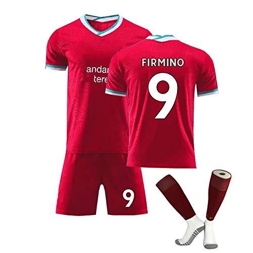FDSEW Los niños del Jersey del fútbol Traje Firmino Nº 9 Keïta Nº 8 Nº 10 Mane, Personalizada y Equipo Personalizado y número de Camiseta + Shorts + Calcetines red9-28