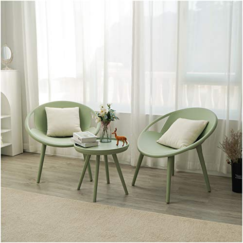 Kamots Beauty 3 Piece Modern Outdoor Patio Set - No Rust Balcony Chairs and Table Set UV-Proof...